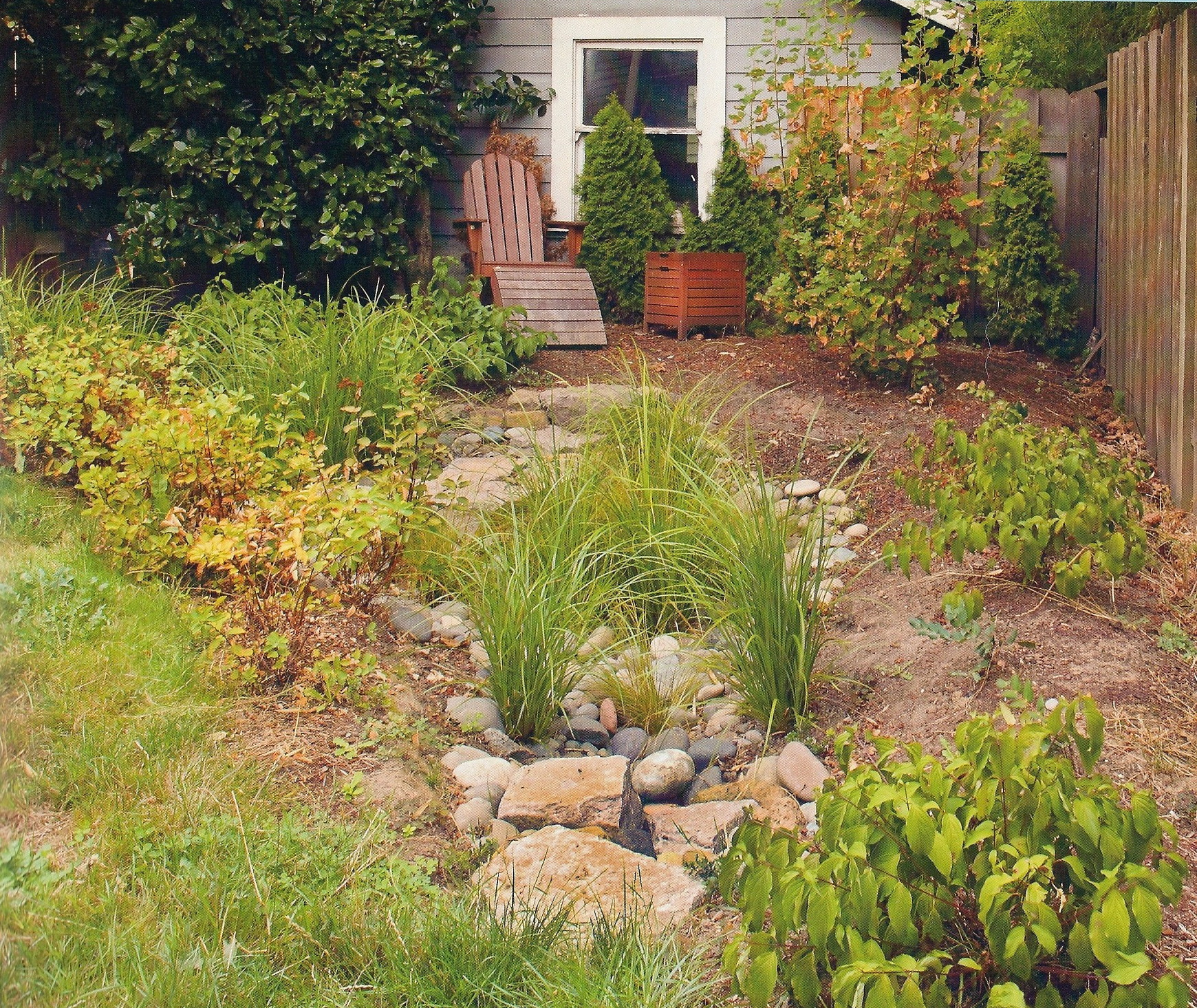 Residential Raingarden constructed by Urban Ecosystems--Featured in the BES 2011 Clean Rivers Calendar